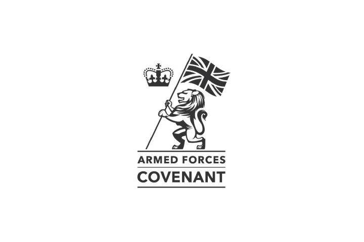 Armed Forces Covenant logo on a white background