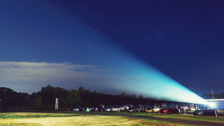 Drive-in movies at Margam Park